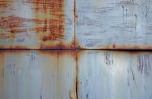 Tekstura Metalowych Skorodowanych Drzwi Do Garażu
