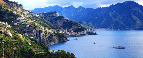 Poster Cote Breathtaking views of Amalfi coast, Italy