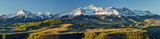 Panoramic view of snow capped mountains
