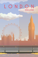 London. Vector Poster.
