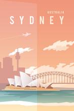 Sydney. Vector Poster.