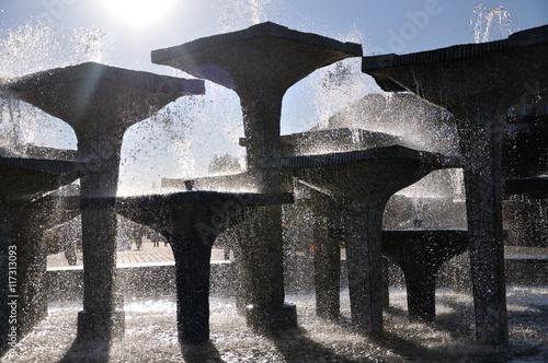 Fototapeta Gdynia - fontanna na Skwerze Kościuszki obraz