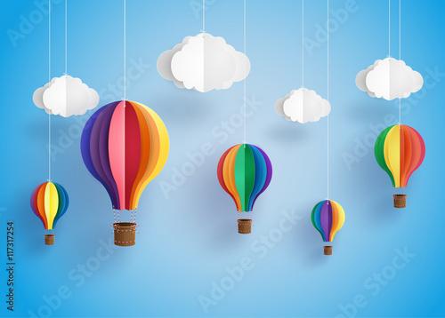 Obraz Balony  colorful-hot-air-balloon-and-cloud