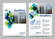 canvas print picture - Blue Brochure Layout design