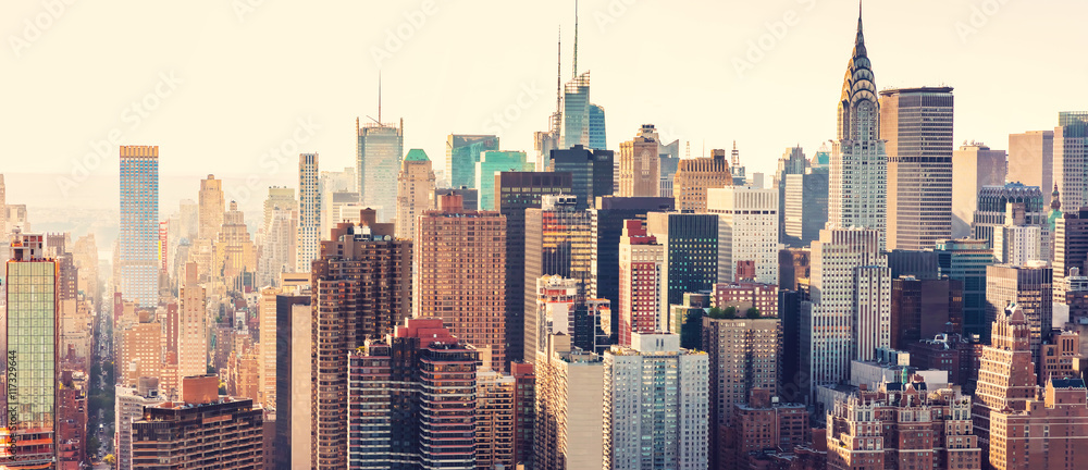 Fototapeta Aerial view of the New York City skyline