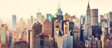 Fototapeta Miasto - Aerial view of the New York City skyline