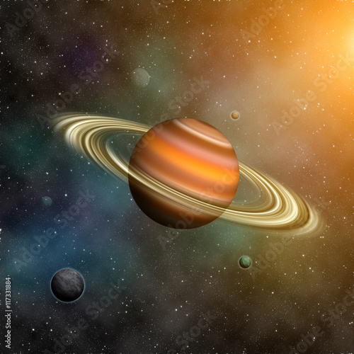 Keuken foto achterwand Nasa Saturn planets. Elements of this image furnished by NASA.