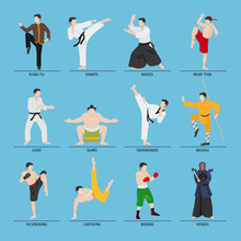 Asian Martial Arts Vector Illu...