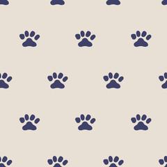 seamless paw pattern