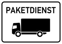 Dts8 DeliveryTruckSign - Ks126 Kombi-Schild - Hinweisschild Für Paketdienst - Anlieferung Und Abholung - A2 A3 A4 Plakat - G4598