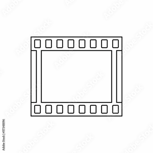 Film with frames movie icon in outline style isolated on white ...