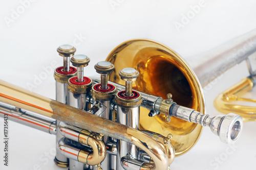 Fotografie, Obraz  Antique Piccolo trumpet