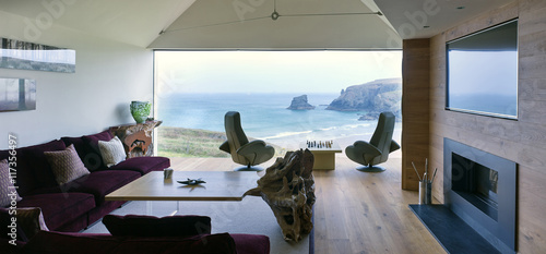 An interior view of a modern residential property in Cornwall, England