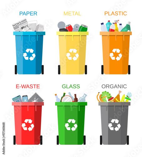 Fotografie, Obraz  Waste management concept
