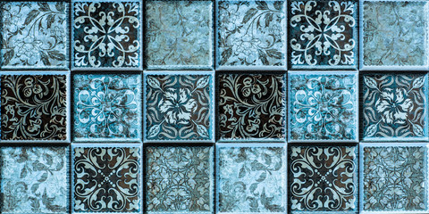 Panel Szklanytiles with colored mosaics, mosaic pattern