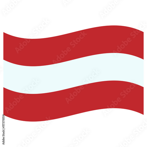 Photo Stands United States red and white austrian flag flying in the breeze