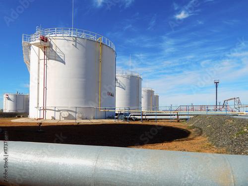 Photo  Vertical tanks.