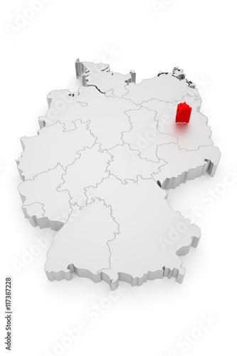 Berlin, Deutschland Bundesländer 3D Poster