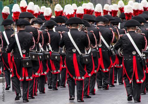 Fotografie, Obraz  Banda musicale dei Carabinieri