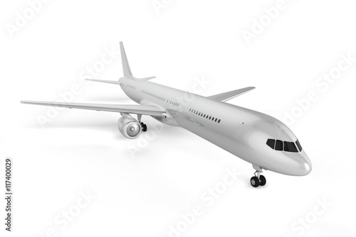 Türaufkleber Flugzeug Blank Airplane Background - Mockup 3D illustration