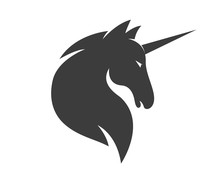 Vector Unicorn Or Horse Logo T...