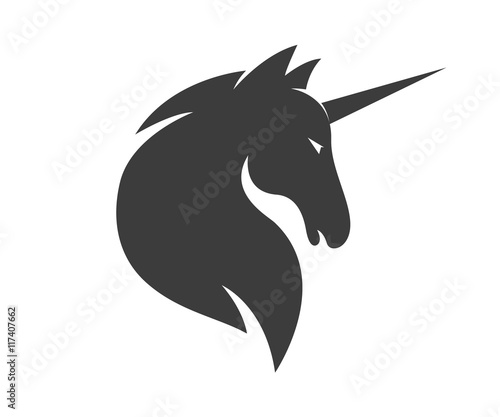Vector unicorn or horse logo template Canvas Print