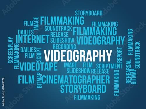 Obraz na plátně  videography