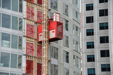 Elevator At Building Construction Site