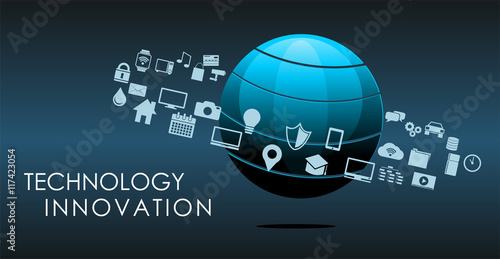 Information technology or technology innovation abstract background.