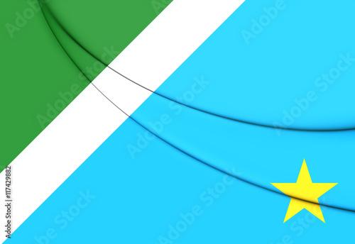 Fotografija  Flag of Mato Grosso do Sul, Brazil. 3D Illustration.