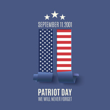 Abstract Patriot Day Background.