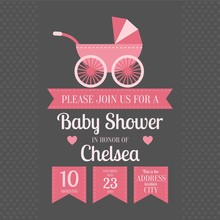 Baby Shower Invitation With Ba...
