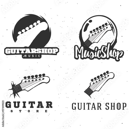 Photo  Guitar shop logotypes