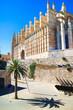 Palma de Mallorca, Spain. La Seu - the famous medieval gothic ca