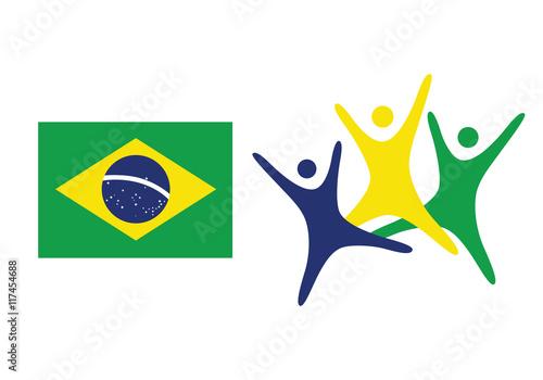 Brazil Flag Flat Vector Illustration Rio De Janeiro