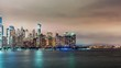 Time-lapse of the lower Manhattan skyline and the Hudson river from Jersey City