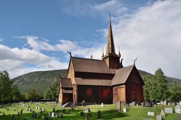 Fototapeta na wymiar Stabkirche in Lom | Südnorwegen