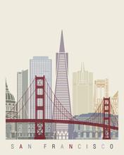 San Francisco V2 Skyline Poster