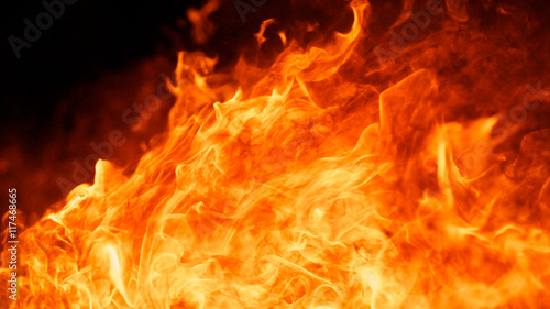 abstract of blaze fire flame for square background