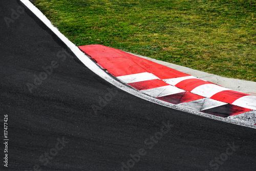 Photo sur Aluminium F1 Race track curve road for car racing