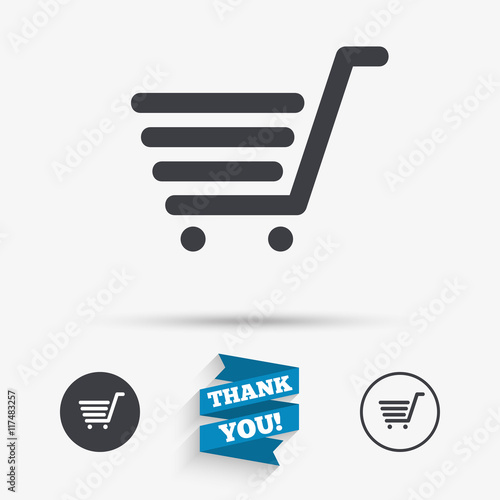 Fotografía  Shopping Cart sign icon. Online buying button.