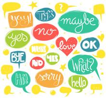 Words In Speech Bubbles