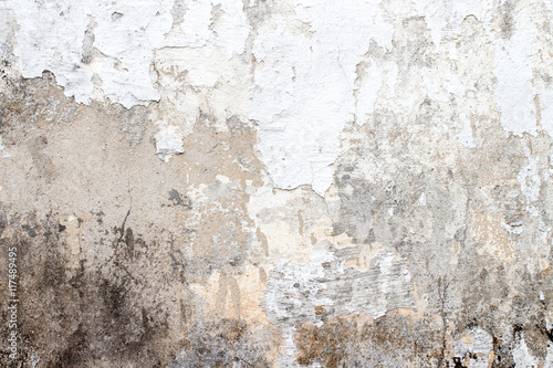 Poster Old dirty textured wall white concrete wall texture
