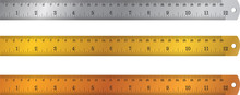 Colorful Rulers, Millimeters, ...