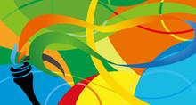 Rio Vector Color Background, Brazil Summer 2016 Games In Rio De Janeiro , Abstract Colorful Backdrop , Sport Games Background 2016