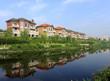 The new villa, under the blue sky