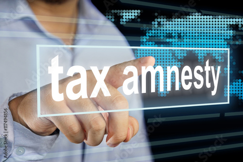 Photo Tax Amnesty Issue Concept