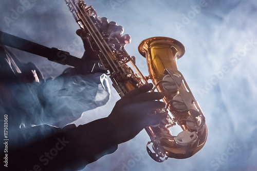 African American Jazz Musician Blues Club Preformer Wallpaper Mural