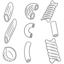 Vector Set Of Macaroni