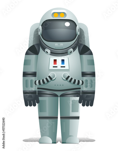 cosmonaut realistic 3d astronaut isolated spaceman space stars earth